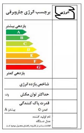 Image result for برچسب انرژی جاروبرقی